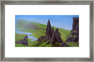 Where Giants Roam The Skye Framed Print