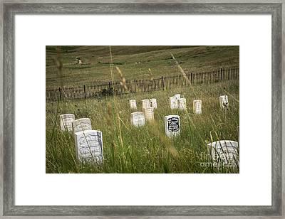 Where He Fell Framed Print by Sandy Adams
