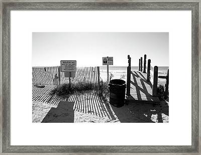 Where Houses Once Stood Framed Print by Betsy Knapp