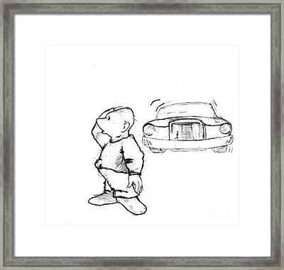 Where I Am... Framed Print by Line Gagne