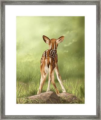 Where Is My Mom? Framed Print