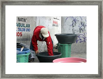 Where Is That Soap Bar Framed Print by Jez C Self