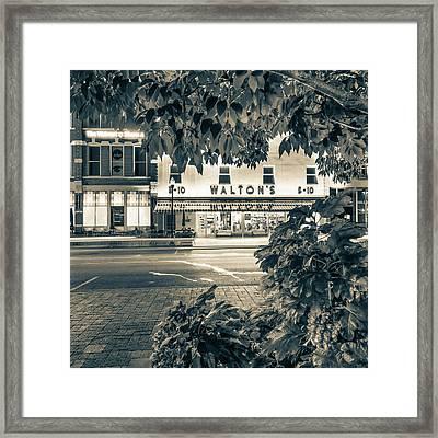 Where It All Began - Sam Walton's First Store - Sepia - Bentonville Arkansas Framed Print