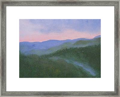 Where Mists Nestle Framed Print by Trilby Cole