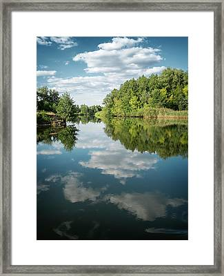 Where Reflection Inhabits. Sedniv, 2015. Framed Print