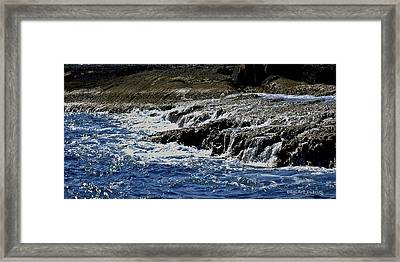 Where Sea And Shore Become One Framed Print by DigiArt Diaries by Vicky B Fuller