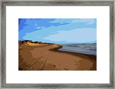 Where Sea Meets Sky Framed Print by Linda Mesibov