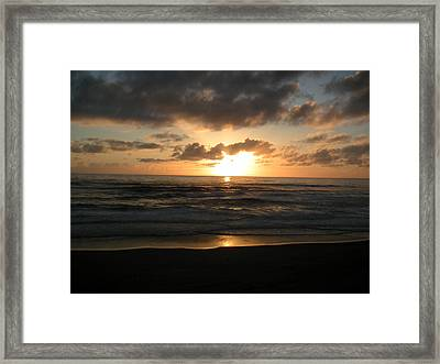 Where Sun And Ocean Meet Framed Print