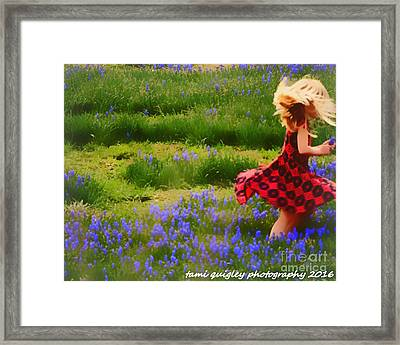 Where The Bluebells Bloom Framed Print by Tami Quigley