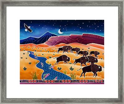 Where The Buffalo Roam Framed Print by Harriet Peck Taylor