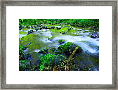 Where The Golden Waters Flow Framed Print by Jeff Swan