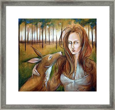 Where The Hart Is Framed Print by Jacque Hudson