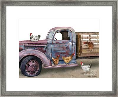 The Flock Spot  Framed Print