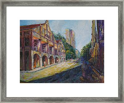 Where The Journey Began Framed Print by Wendy  Chua