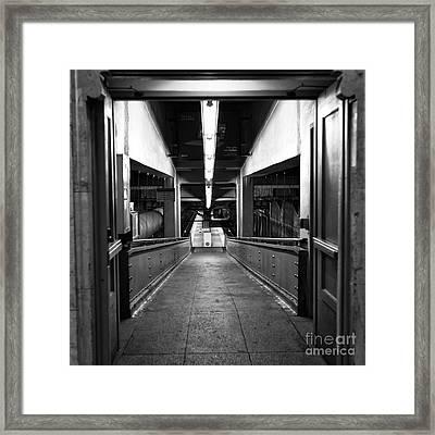 Where The Light Leads Mono Framed Print