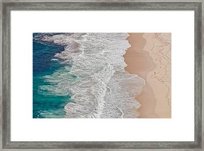 Where The Ocean Ends... Framed Print by Andreas Feldtkeller