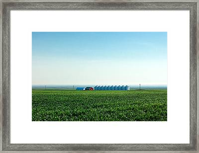 Where The Plains Meet The Sky Framed Print by Todd Klassy