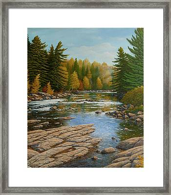 Where The River Flows Framed Print