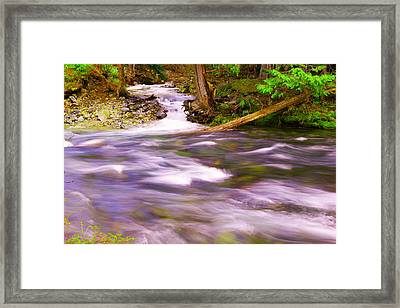Framed Print featuring the photograph Where The Stream Meets The River by Jeff Swan