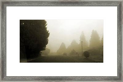 Where The Street Has No Name Framed Print by Marcello Cicchini