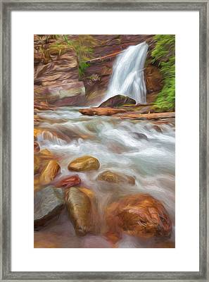 Where The Water Goes II Framed Print by Jon Glaser