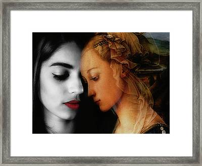 Framed Print featuring the digital art Where The Wild Roses Grow  by Paul Lovering