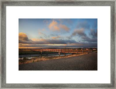 Where The Years Behind Are Piled Up High Framed Print