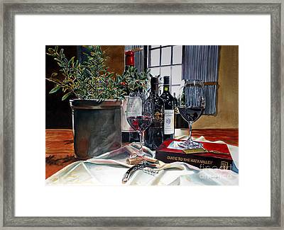Framed Print featuring the painting Where To Begin by Gail Chandler