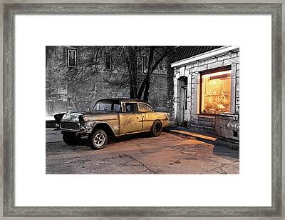 Where U @ Tho? Framed Print