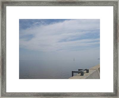 Framed Print featuring the photograph Where Water Meets Sky by Mary Mikawoz