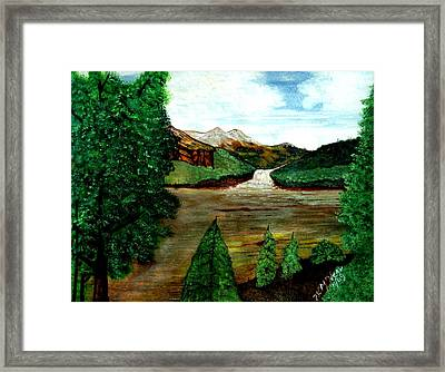 Where Water Meets Framed Print by Willie McNeal
