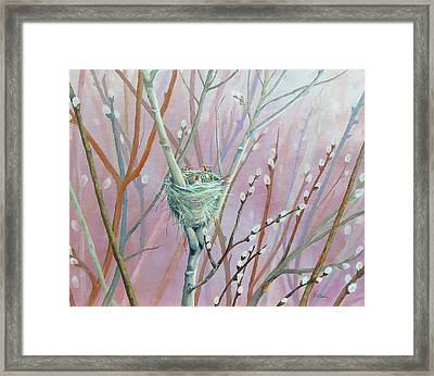 Framed Print featuring the painting Where's Mama by Susan DeLain