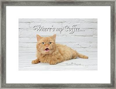 Where's My Coffee? Framed Print