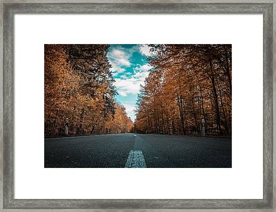 Wherever The Road Will Take You Maine Wilderness Stories From The Road Series 004 Framed Print