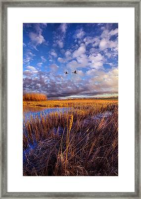 Wherever You Go Becomes A Part Of You Framed Print
