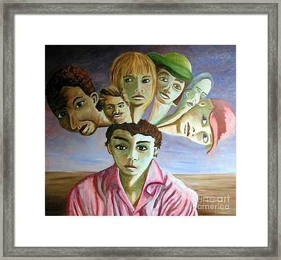 Which Of My Sub Personalities Is The Real Me Framed Print by Tanni Koens