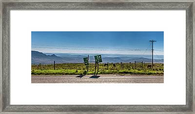 Which Way Now? Framed Print by Darren Patterson