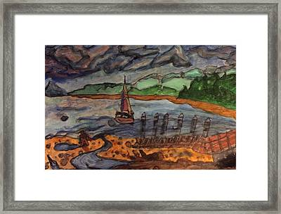 Whidbey Harbor Framed Print by Anne Marjorie Erickson
