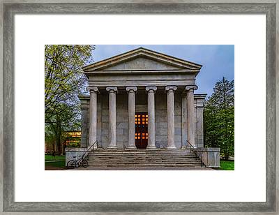 Framed Print featuring the photograph Whig Hall Princeton University by Susan Candelario