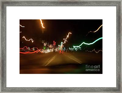 While Driving Framed Print by Michael Ziegler
