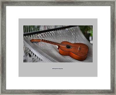 While My Guitar Gently Sleeps Framed Print by Jim Walls PhotoArtist