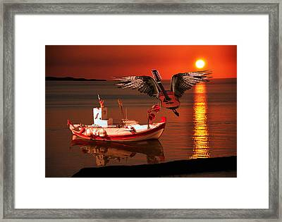 While My Guitar Gently Weeps Framed Print by Eric Kempson