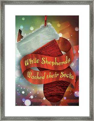 While Shepherds Washed Framed Print