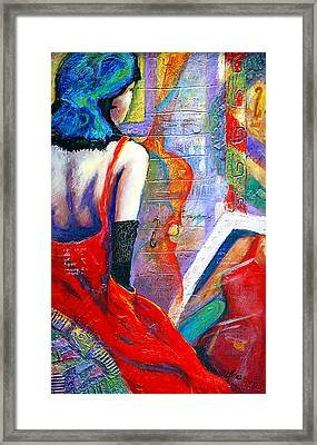 While They Wait Framed Print by Claudia Fuenzalida Johns