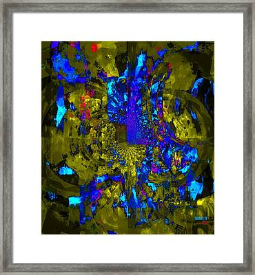 While Thinking - 1.5 Million Flood Victims In Pakistan Framed Print by Fania Simon