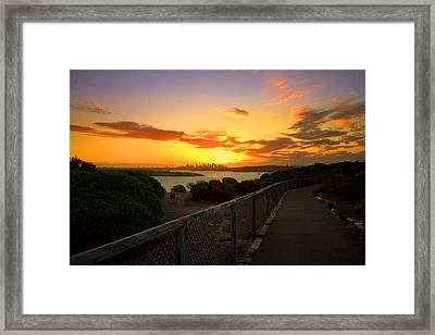 While You Walk Framed Print