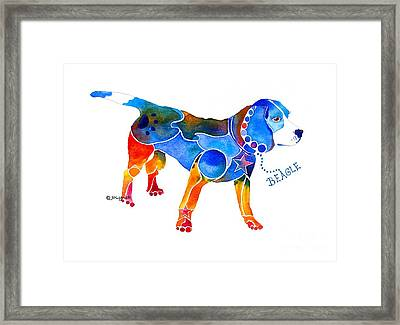 Whimsical Beagle Framed Print
