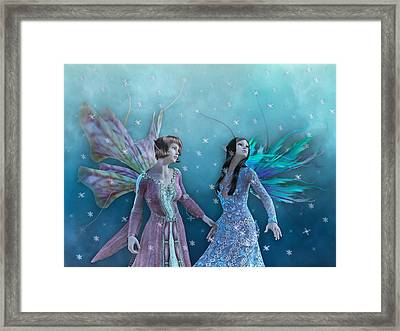 Whimsical Christmas Night  Framed Print by Betsy Knapp