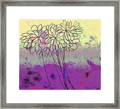 Whimsical Flower Bouquet Framed Print by Ann Powell