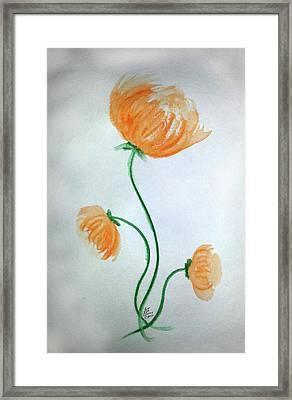 Whimsical Flowers Framed Print